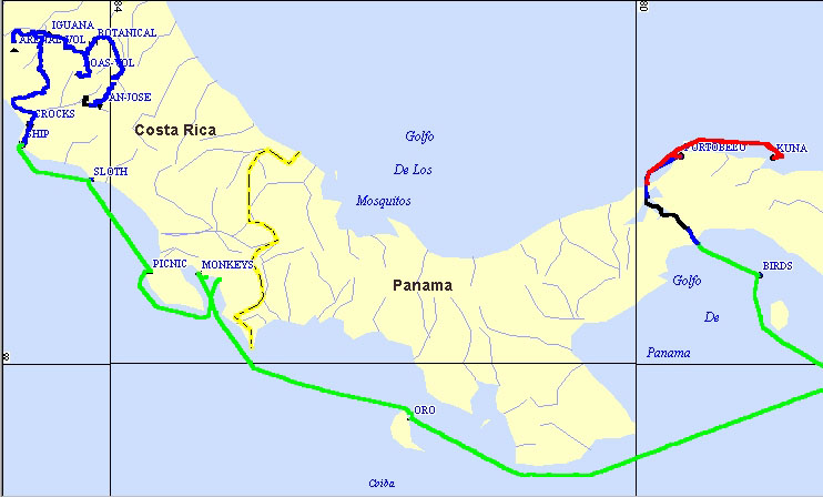Costa Rica And Panama With Cruise West - Map of costa rica central america